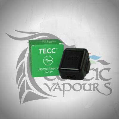 TECC 1.0A USB Wall Adaptor Plug