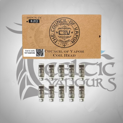 The Council of Vapour 0.2 ohm coil 10x Pack