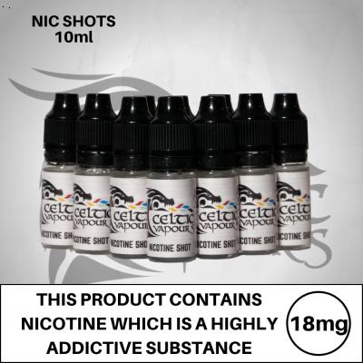Celtic Vapours Nicotine Nic Shots